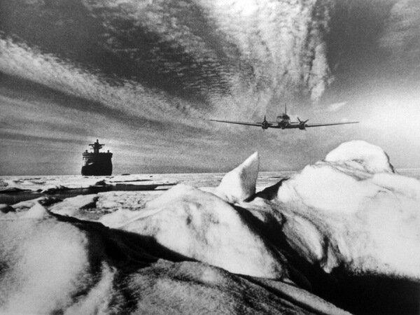 Ледовая разведка в Арктике. 1976