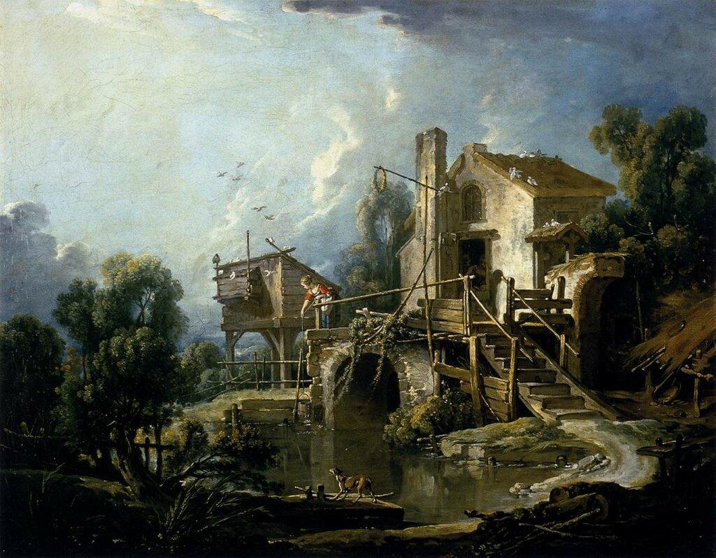 65.Мельница в Шарентоне (1750-е) (72 х 92) (Орлеан, Музей изящ.искусств).jpg