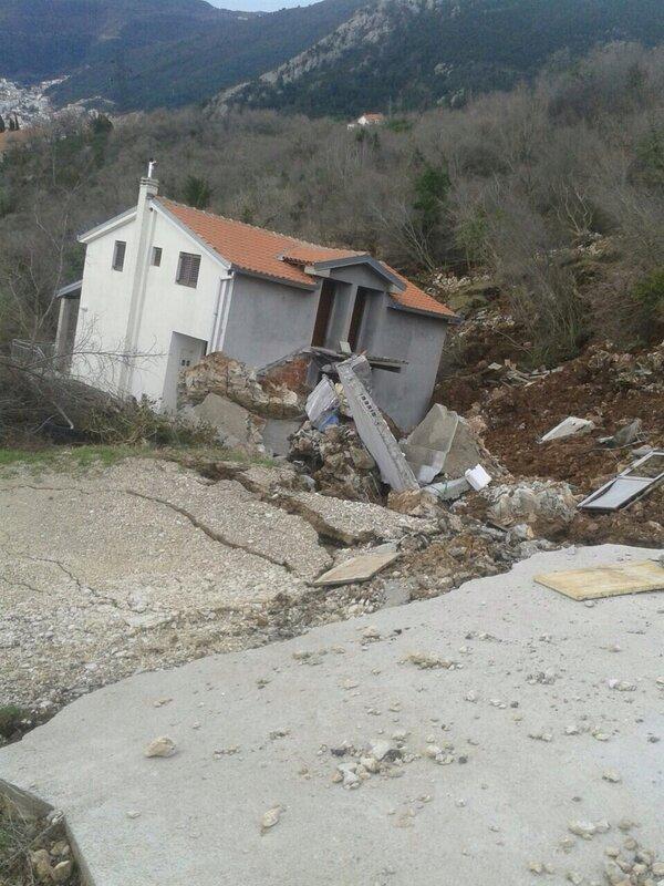 дорога Будва Цетинье, оползень у Марковичи