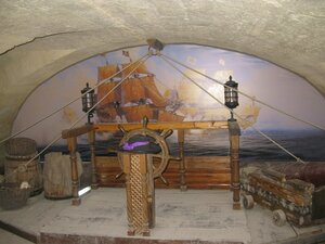 Музей Пираты Черного моря в Евпатории - капитанский мостик