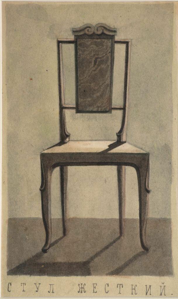 Иорданский Борис Стул - Эскиз мебели для гостиницы Москва 1944.jpg