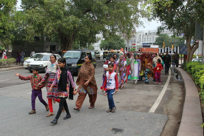 Женская демонстрация в Дели
