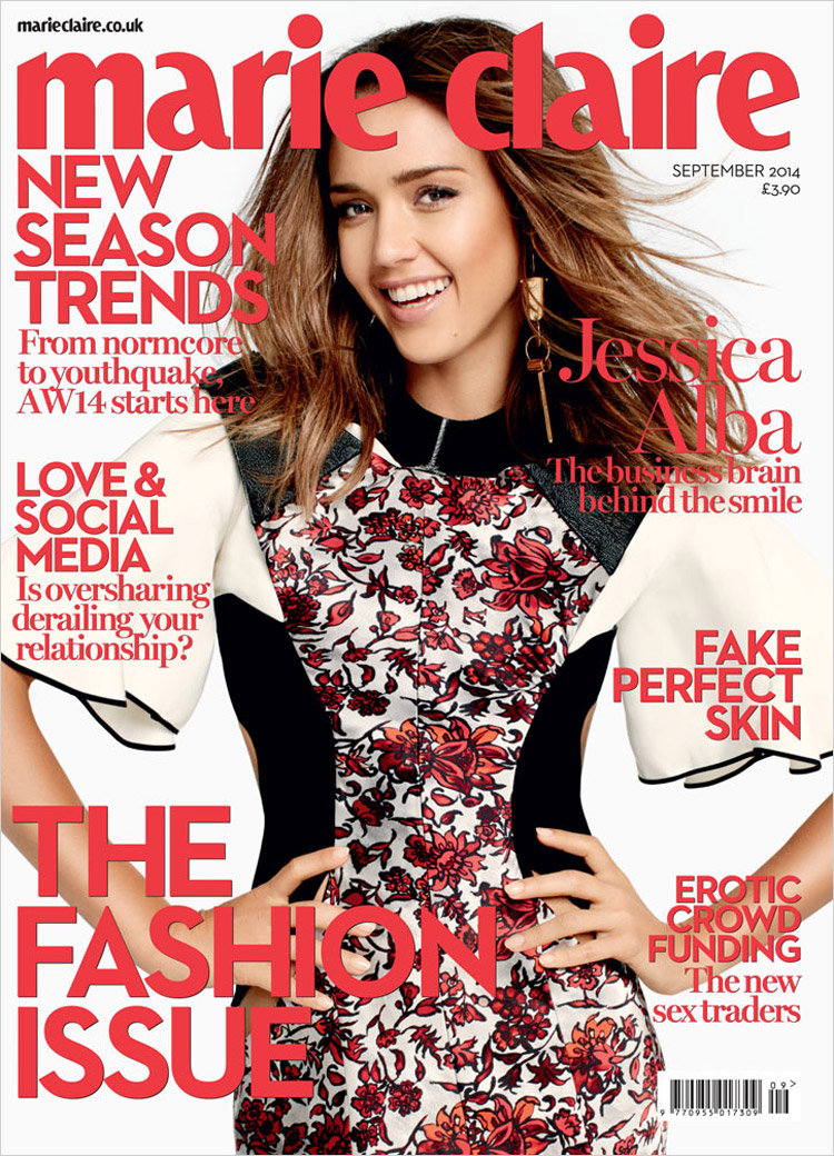 Джессика Альба в журнале Marie Claire UK