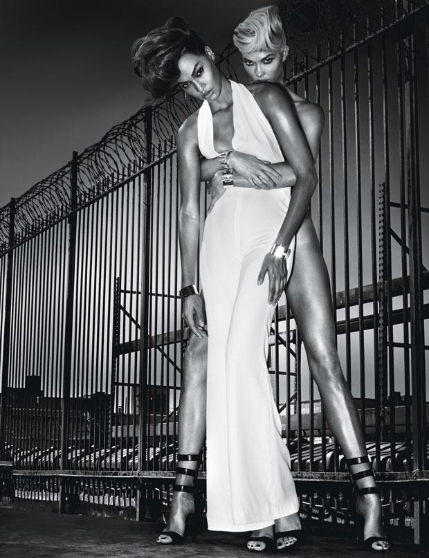 Карли Клосс (Karlie Kloss) и Джоан Смоллс (Joan Smalls) в журнале W Magazine (11 фото)