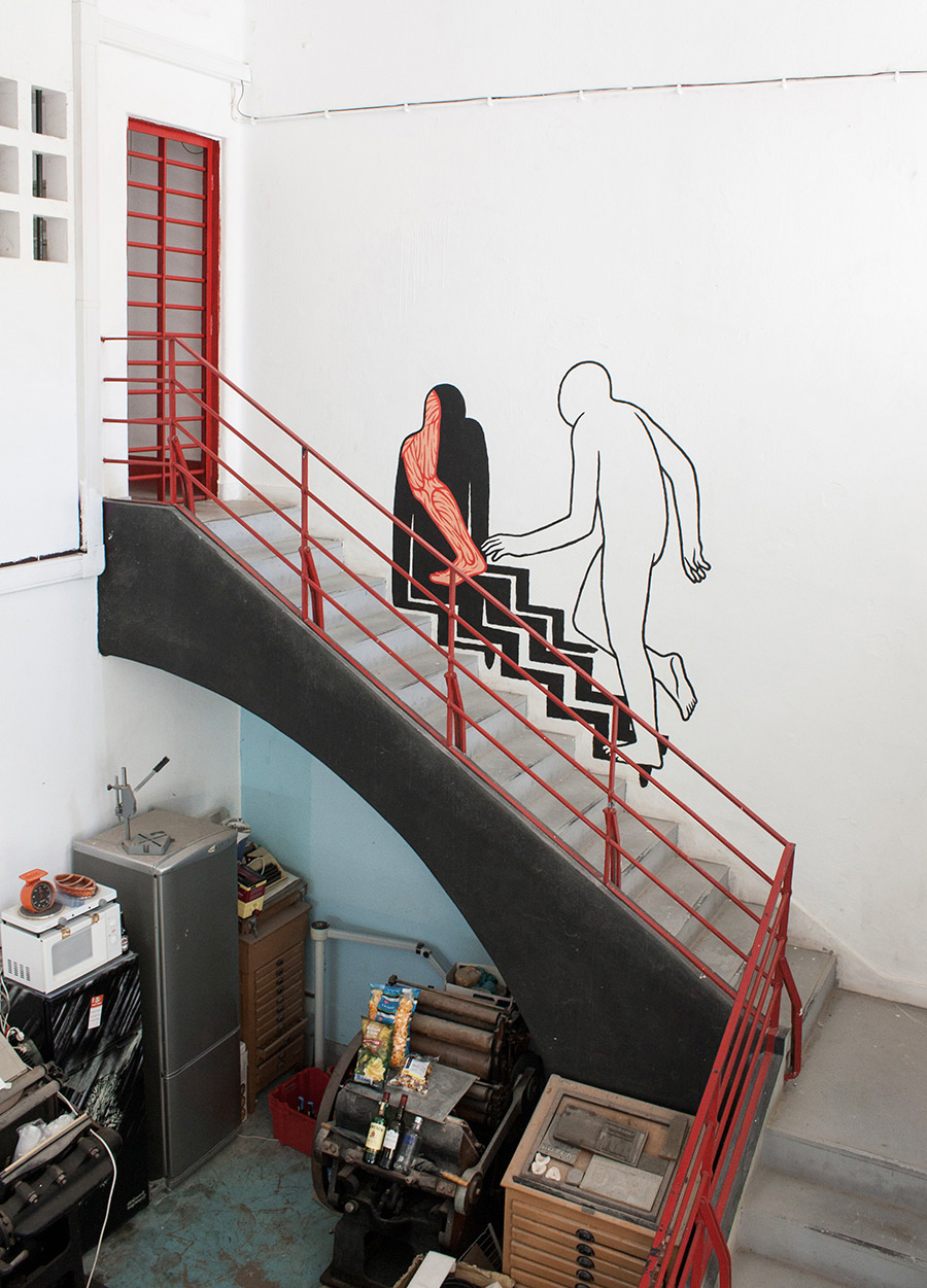 Quirky Murals and Street Interventions of Anonymous Silhouette Figures by Daan Botlek