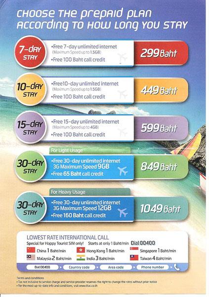3. Тарифы на сотовую связь в Таиланде. Мы купили SIM-карту за 849 бат с безлимитным интернетом, чтобы пользоваться навигатором. Отдых дикарями в феврале
