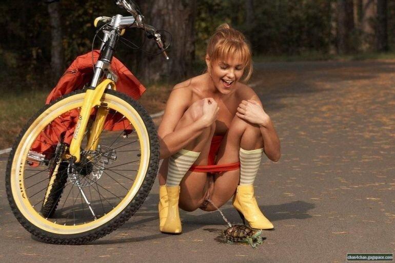 Оргазм женщин велосипедистки