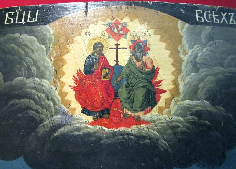 """Икона Божией Матери """"Всех скорбящих Радость"""". Последняя четверть XVIII века. Фрагмент."""