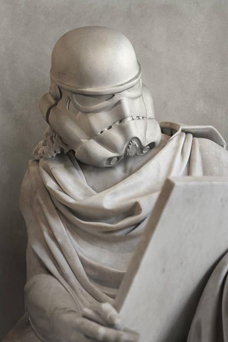Звездные войны застыли в скульптуре
