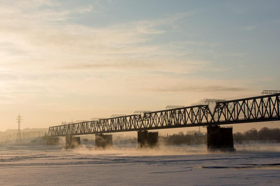фото, Новосибирск, Новосиб, Сибирь, зима, снег, город, ж/д, железная дорога, мост, джд, вокзал, архитектура