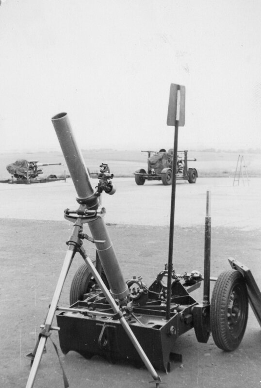 Royal School of Artillery, Larkhill; gun park; 4.2-inch smooth-bore mortar. [P1-388-1848]  http://uhcl.recollect.co.nz/nodes/view/1045#idx948