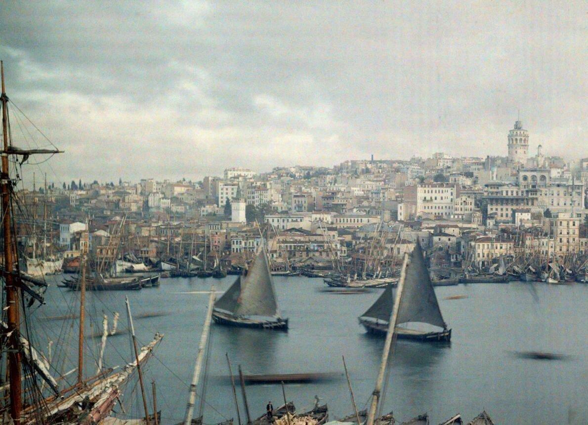1923. Турция. Общий вид Константинополя