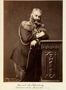 Граф Николай Владимирович А?длерберг (1819—1892) — русский государственный и военный деятель, генерал-адъютант (30 августа 1857), генерал от инфантерии (17 апреля 1870), участник покорения Кавказа, Генерал-губернатор Финляндии (1866—1881).1874