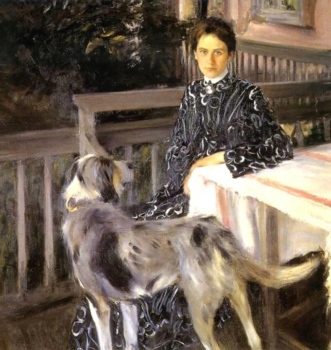 Портрет жены художника, 1903.Кустодиев.
