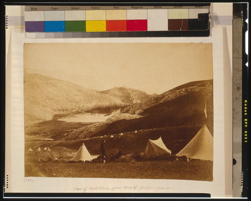 Вид Балаклавы из английского лагеря