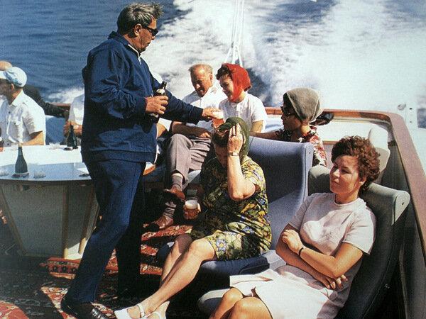 Брежнев на отдыхе в Крыму. 1973
