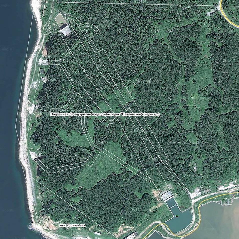 Недостроенная советская военная база для подводных лодок