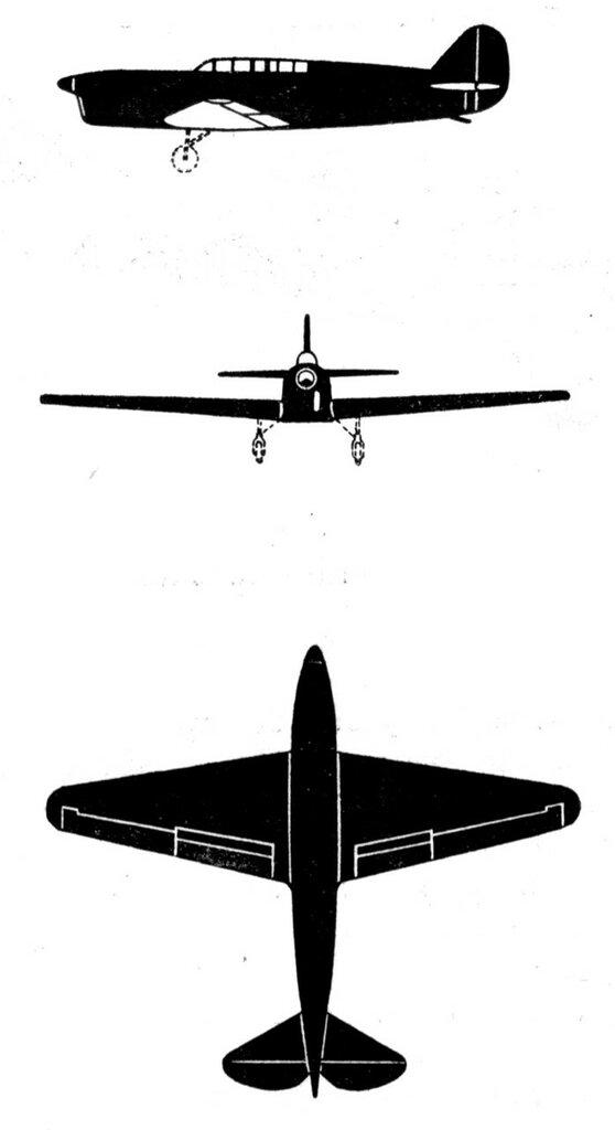 Силуэты итальянских самолетов (1939) 051
