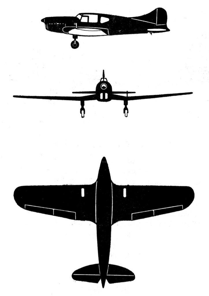 Силуэты итальянских самолетов (1939) 053