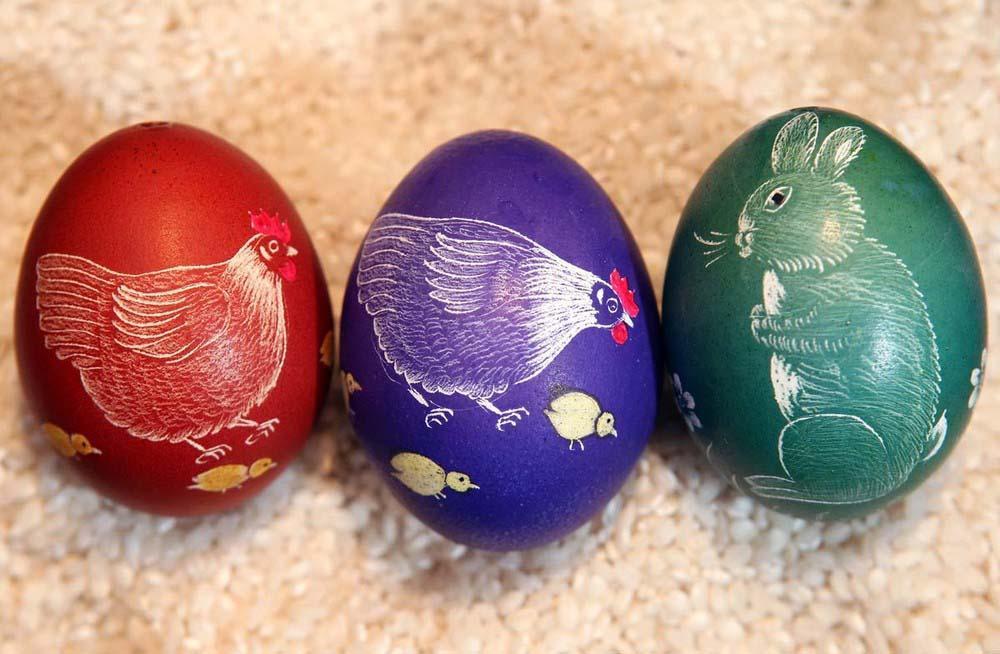 9. Животные и птицы – популярный узор на яйцах. (Photo by Adam Berry)