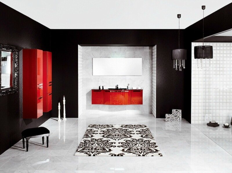 красно-черная комната