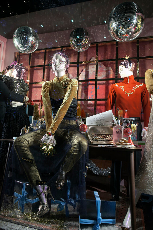 LONDON. UK - 11 November 2016, Selfridges, Oxford Street, London, decorated for Christmas and New 2017Year