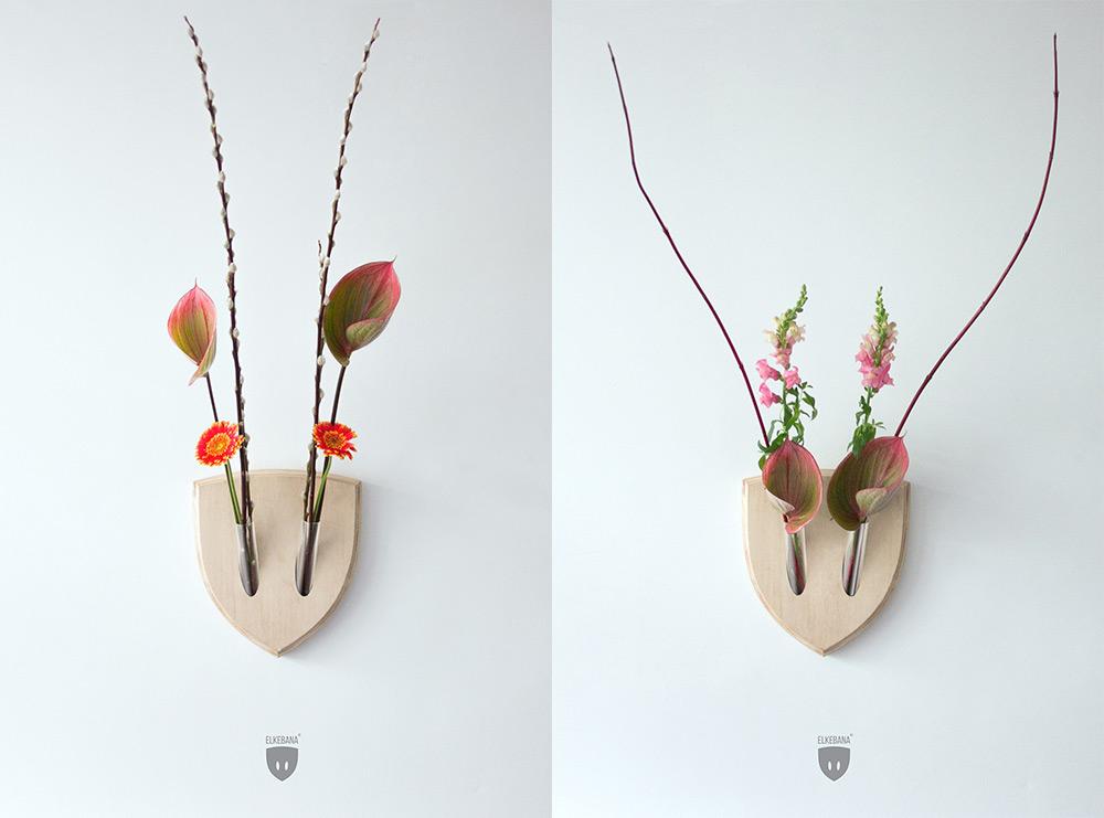 Elkebana: Symmetrical Flower Wall Trophies Inspired by Japanese 'Ikebana' Flower Arrangements