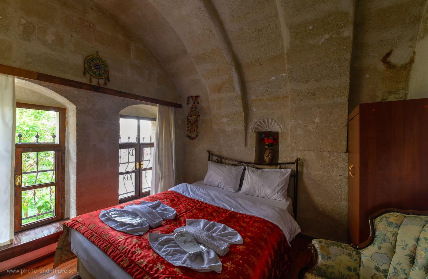 Фотография 8. Комната в отеле Melek Cave Hotel в поселке Гёреме. Не знаете, где поселиться в Каппадокии? Рекомендую эту гостиницу! Отзывы об отдыхе в Турции. HDR из 3-х кадров. Объектив Samyang 14mm f/2.8.