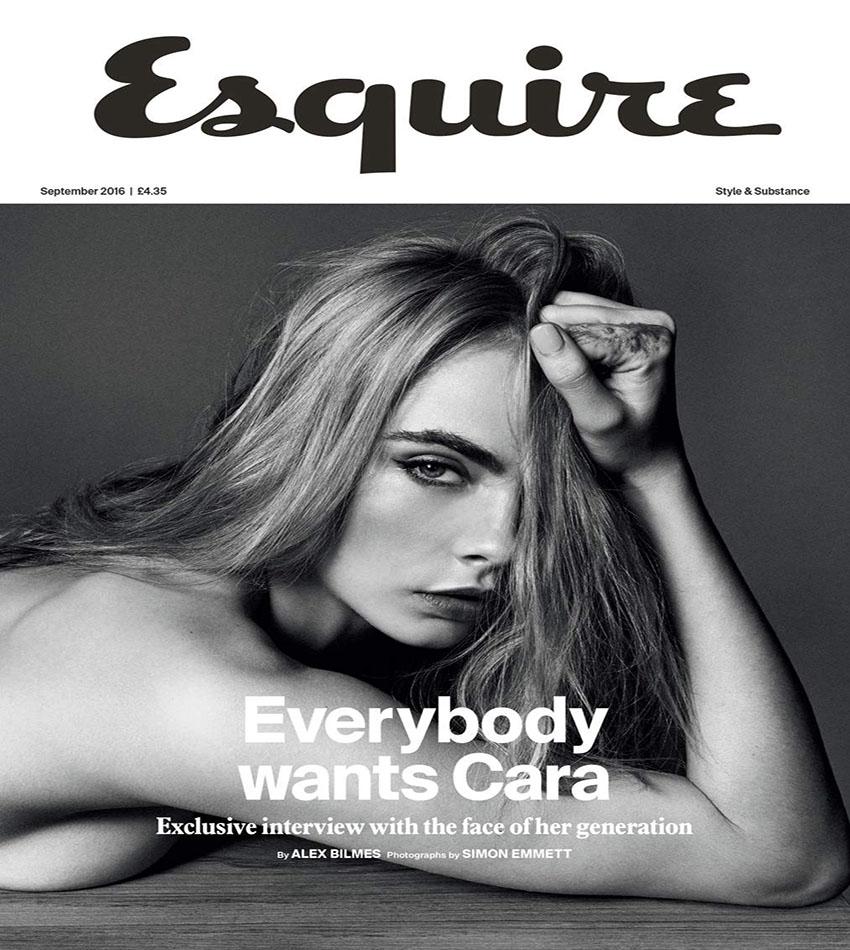 Cara Delevingne - Esquire UK (September 2016)
