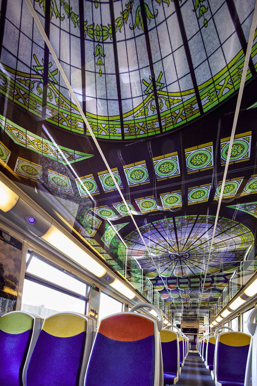 French Public Trains Redecorated with Impressionist Art