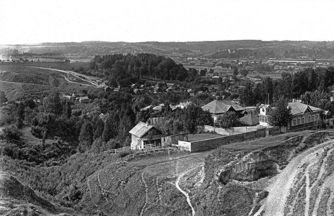 Вид с Королевского бастиона на Энгельгардтовскую улицу и Козинку. 1906