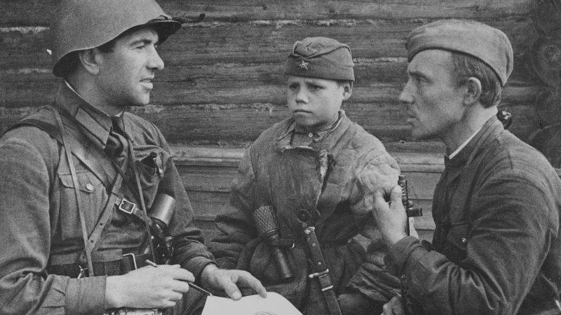 Воспитанник 1069-го сп 311-й сд Саша Попов. Сентябрь 1941 года.
