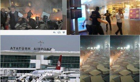 Видео нескольких взрывов в аэропорту Стамбула появилось в сети