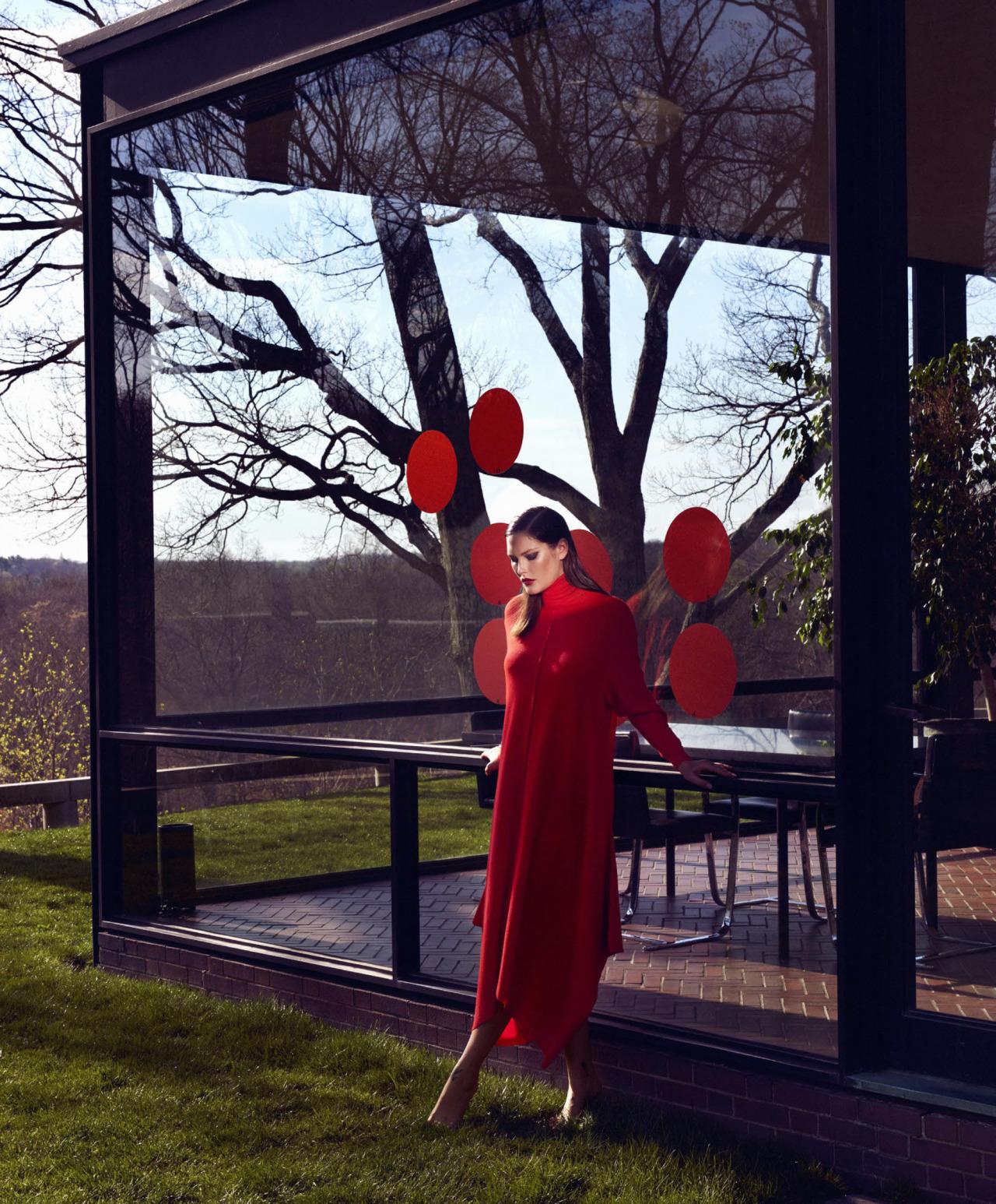 Kusama's Garden for Harper's Bazaar US September 2016 Catherine McNeil by Kristian Schuller