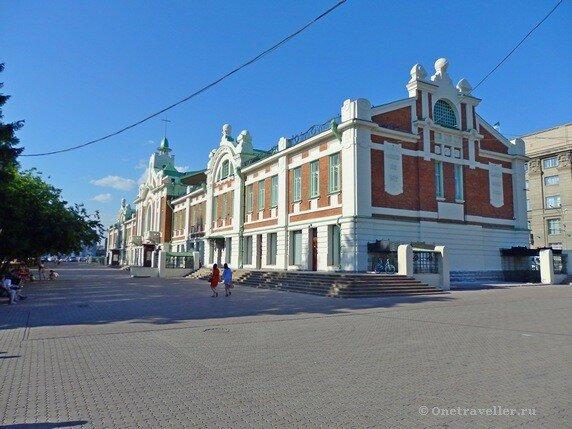 Новосибирск. Здание Городского торгового корпуса (Областной краеведческий музей)