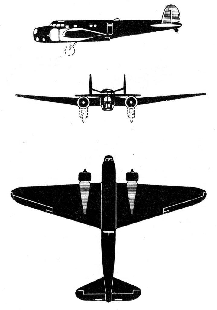 Силуэты итальянских самолетов (1939) 021
