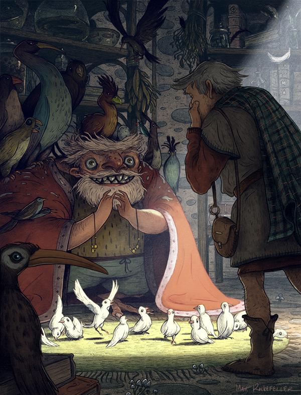 Большая часть работ Мэтта - это иллюстрации к сказкам со всего мира. Его рисунки очень ярко рассказы