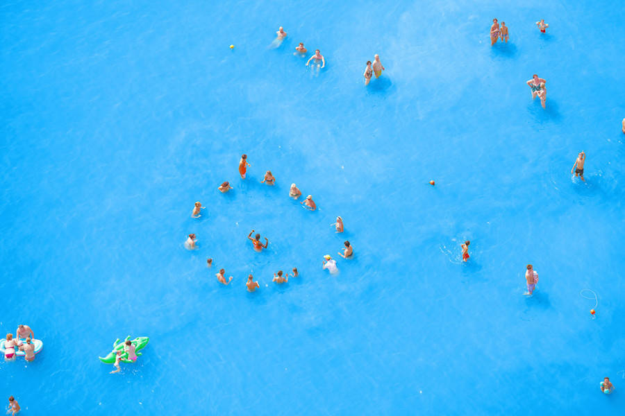 Aerial Photographs of Vacationers in the Adriatic Sea