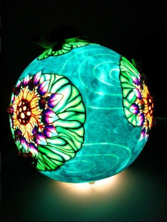 Светильники из полимерной глины