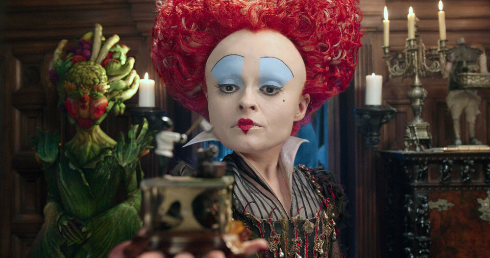 Iracebeth, the Red Queen (Helena Bonham Carter) returns in Disney's ALICE THROUGH THE LOOKING GLASS, an all-new adventure featuring the unforgettable characters from Lewis Carroll's beloved stories.