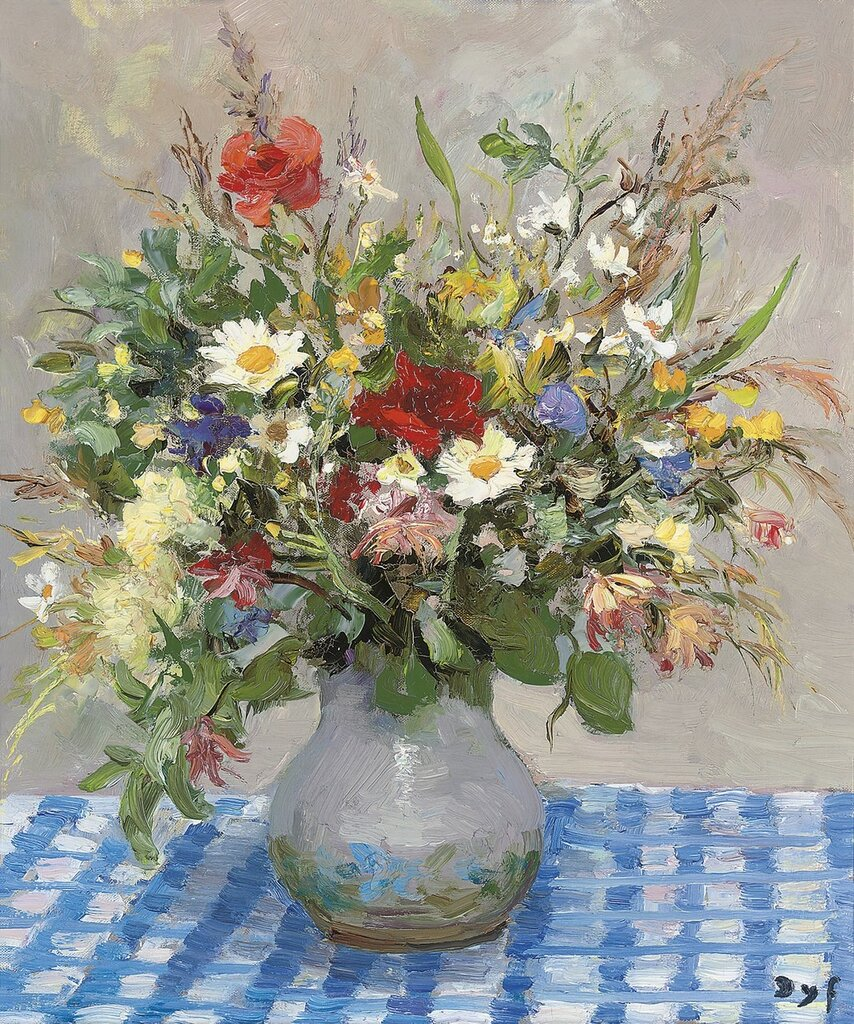 Wild Flowers on the Table-Cloth of Blue and White, 1977.jpg