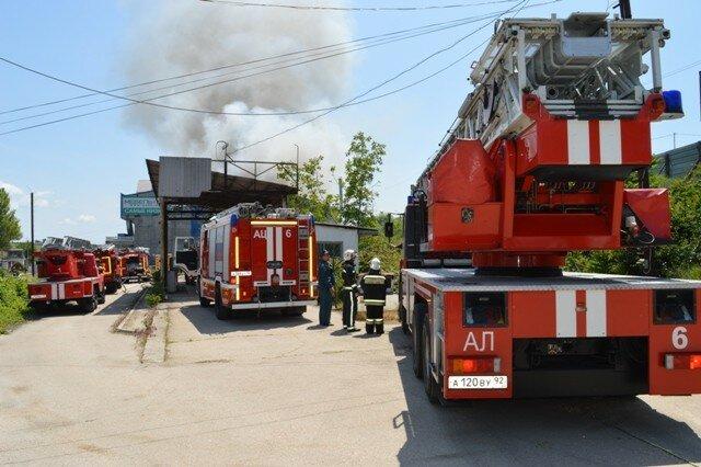 Пожар в Свевастополе