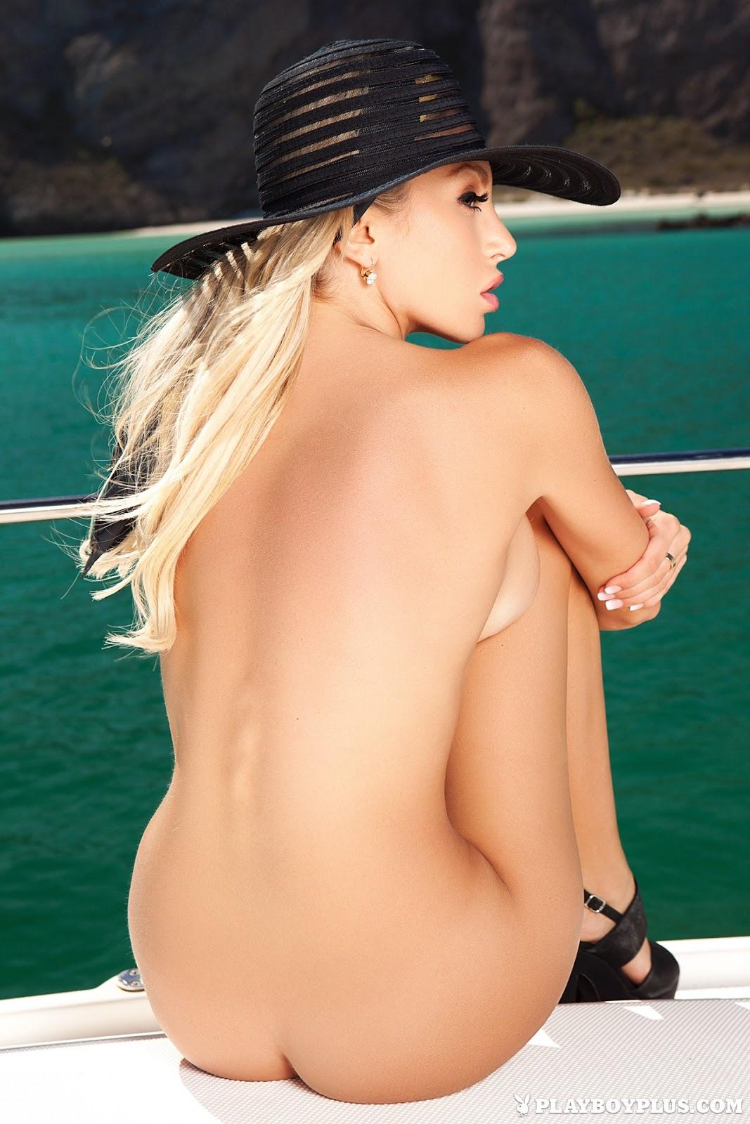 Khloe Terae on yacht Playboyplus