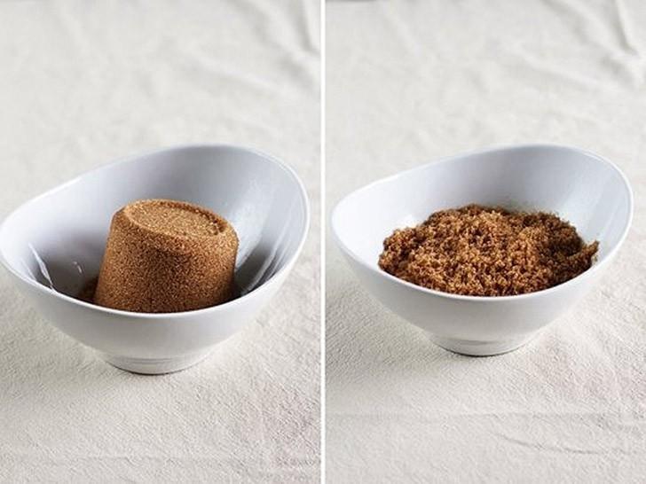 Восстановление затвердевшего коричневого сахара В спешке велик риск передержать коричневый сахар, по