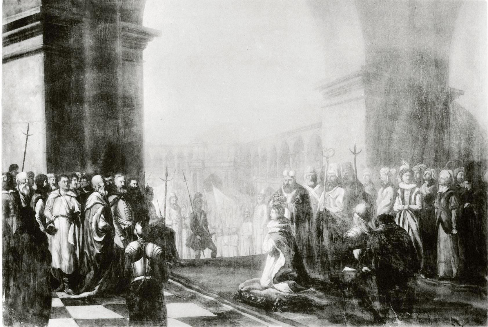 129. Коронование Марины Мнишек и Дмитрия Самозванца.