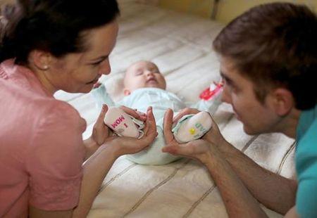 Мама папа и новорожденный