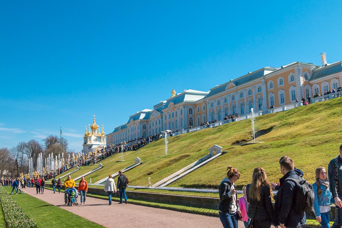 Петергоф. Нижний парк. Большой Петергофский дворец