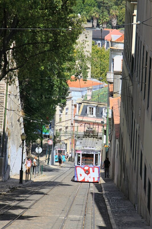Лиссабон, фуникулер Глория (Lisbon, Gloria funicular)