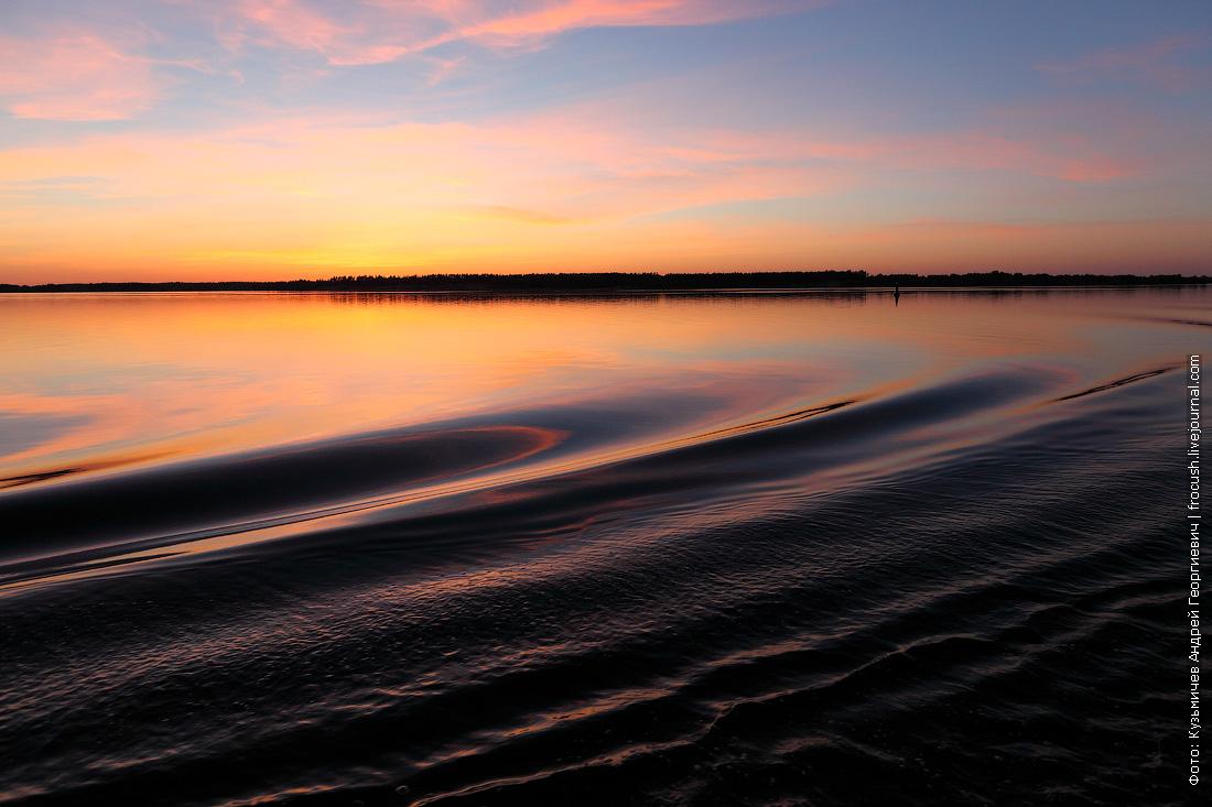 фотография закат на Волге