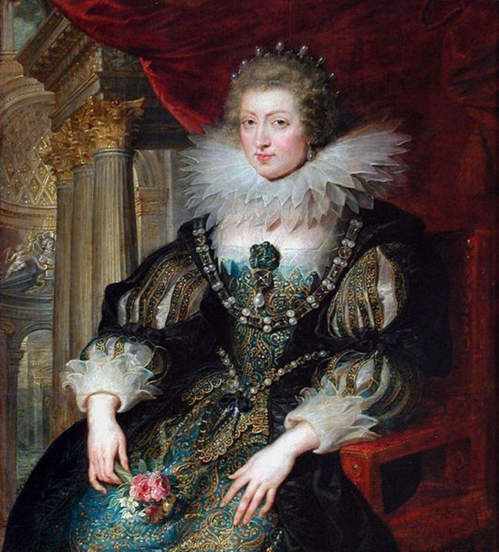 Рубенс,  Королева  Анна Австрийская  , в районе 1625 года.